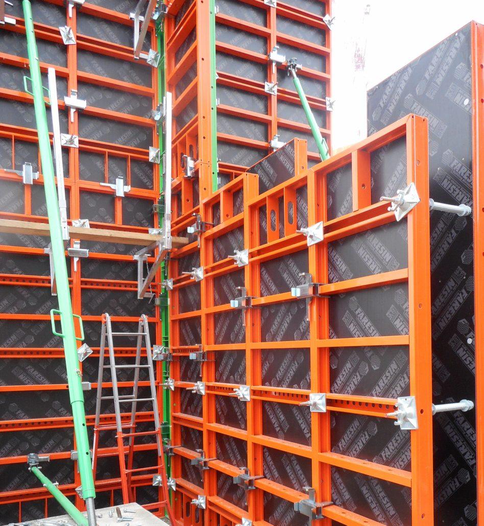 Encofrados para paredes - paredes modulares -2